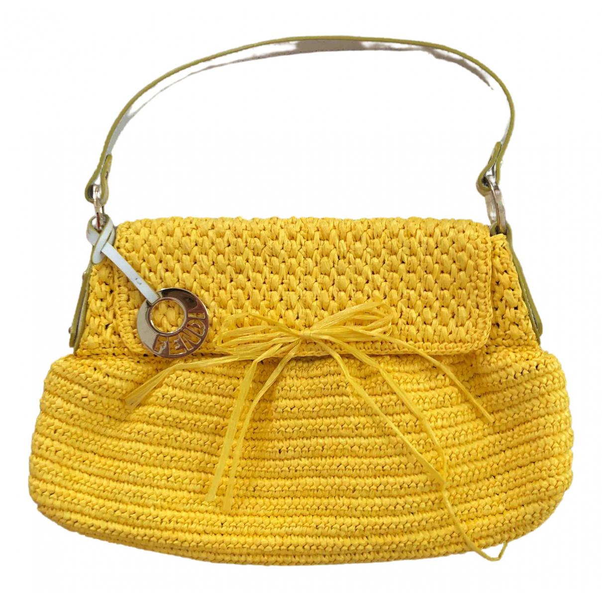 Fendi Chef  Yellow Wicker handbag for Women N