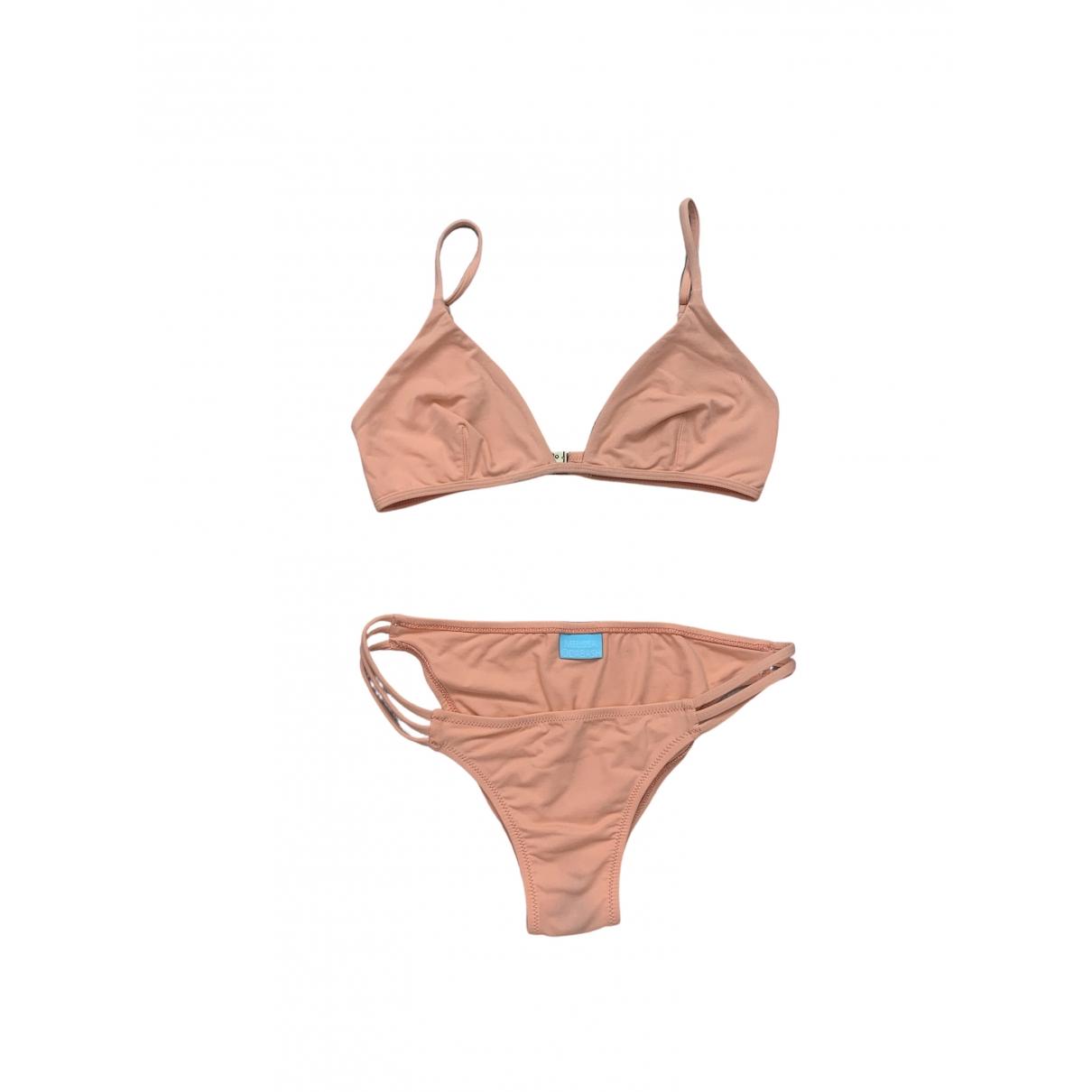 Melissa Odabash - Bain   pour femme en coton - elasthane - orange