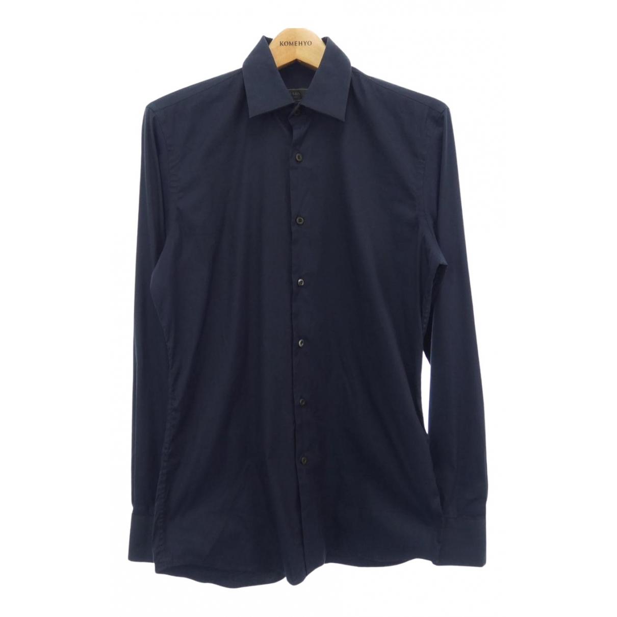 Prada - Chemises   pour homme en coton - marine