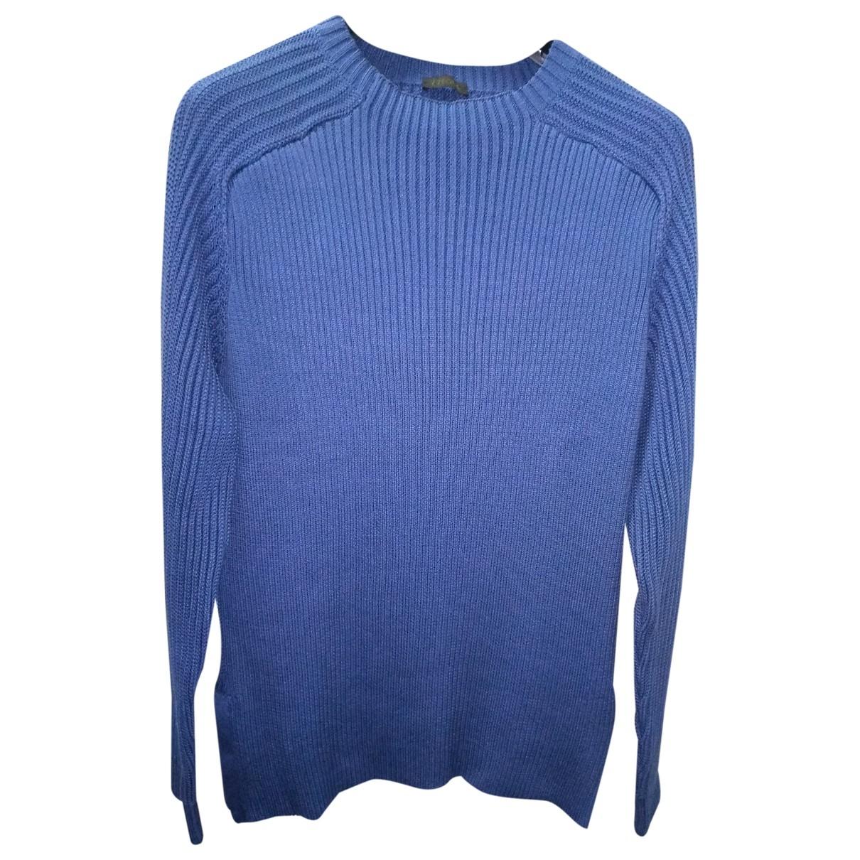 Z Zegna \N Pullover.Westen.Sweatshirts  in  Blau Baumwolle