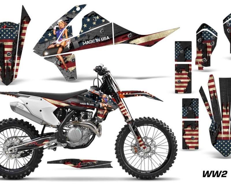AMR Racing Dirt Bike Decal Graphic Kit Wrap For KTM SX SXF XCF 250/350/450 2016+áWW2 BOMBER