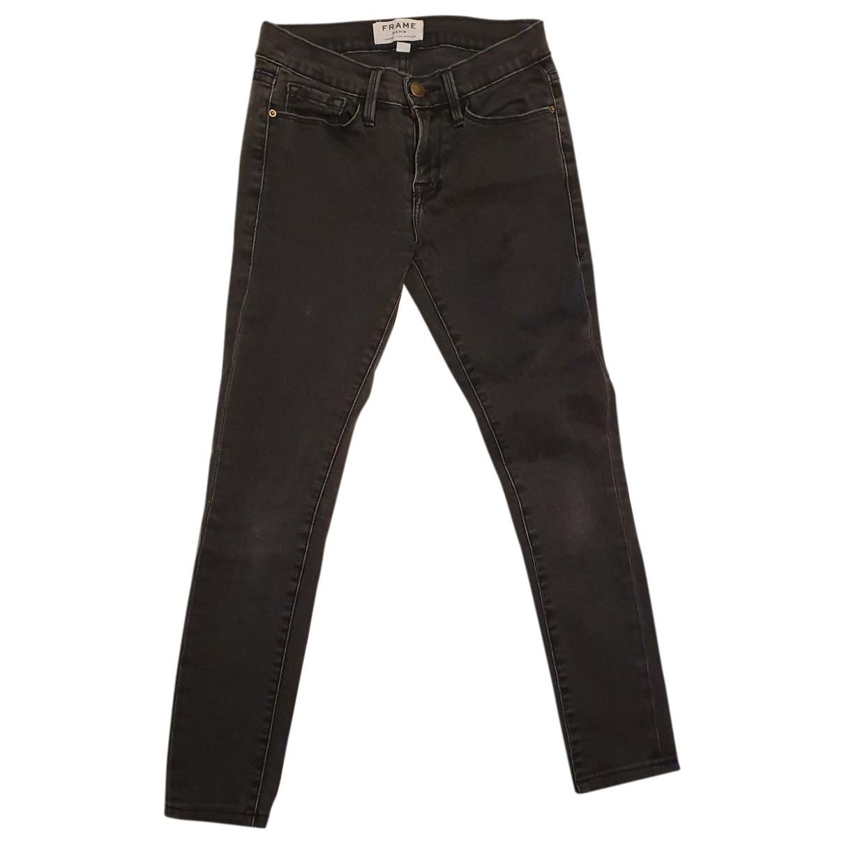 Frame Denim - Jean   pour femme en coton - elasthane - noir
