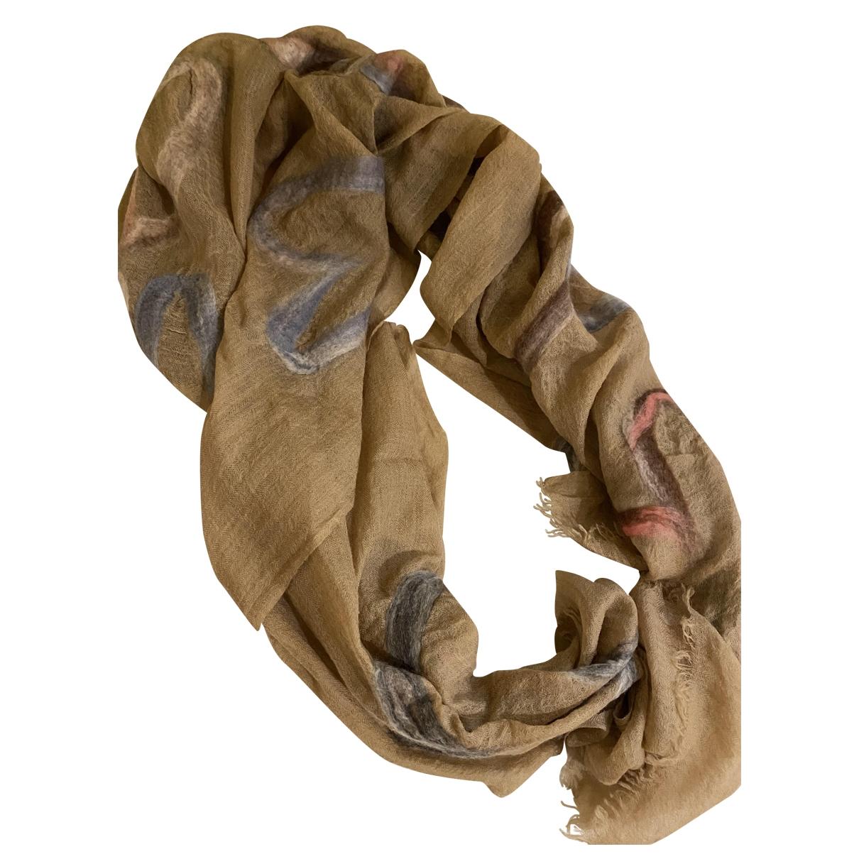 Faliero Sarti \N Camel Wool scarf for Women \N