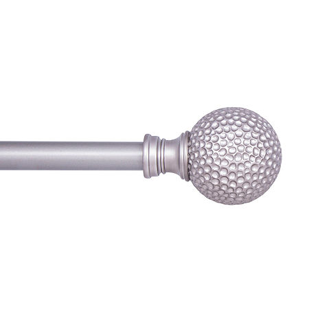 Kenney Manchester Hammered Ball 3/4 IN Curtain Rod, One Size , Gray