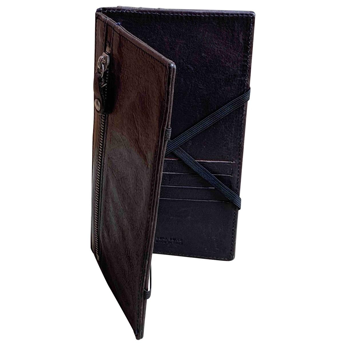 Maison Martin Margiela \N Blue Leather Small bag, wallet & cases for Men \N