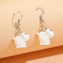 Cartoon Cow Drop Earrings