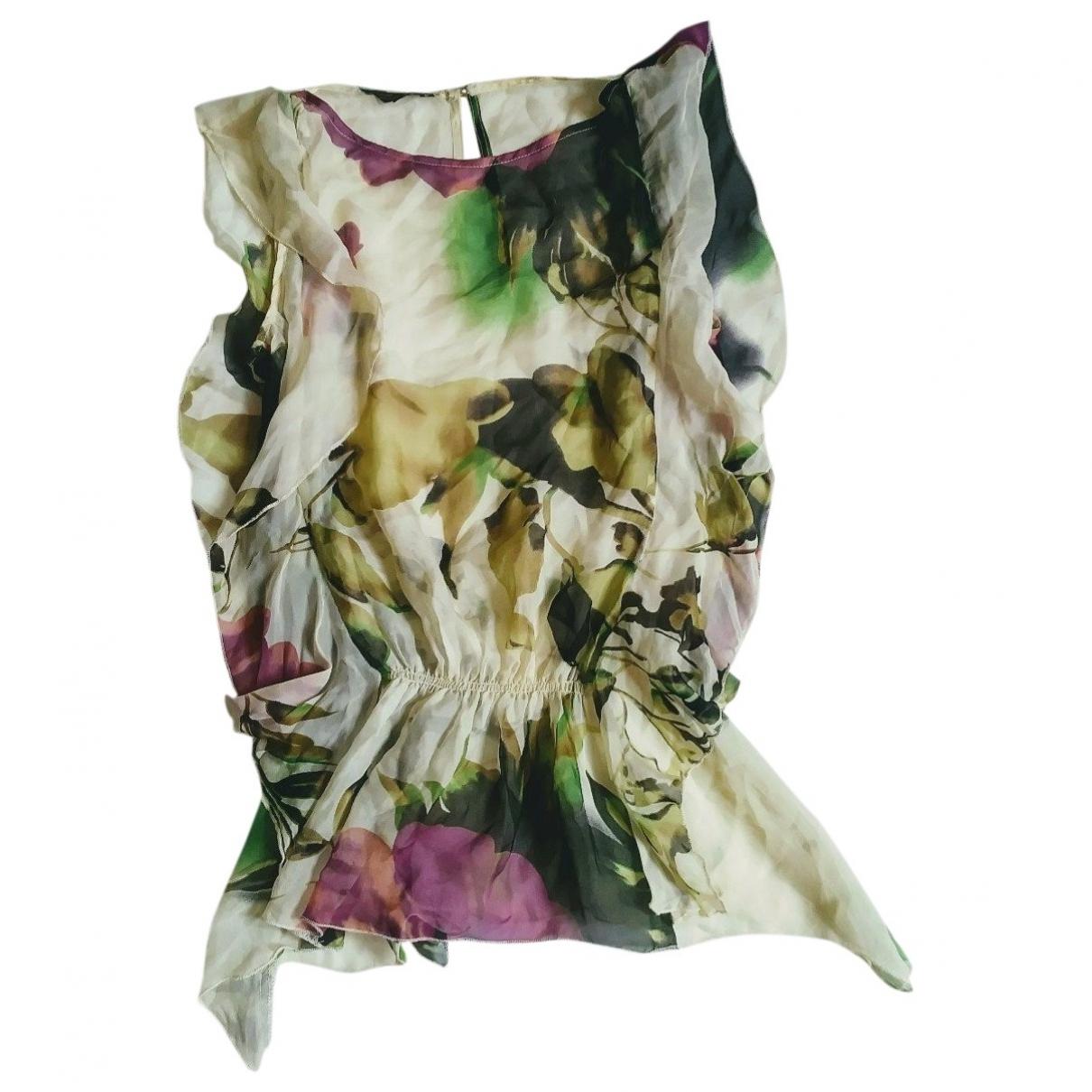 - Top   pour femme en soie - multicolore