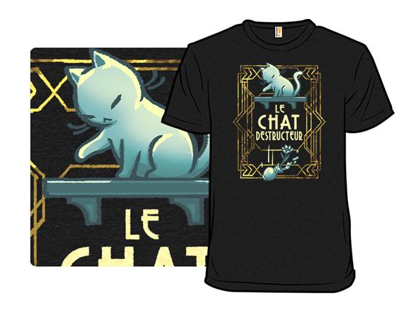 Le Chat Destructeur T Shirt