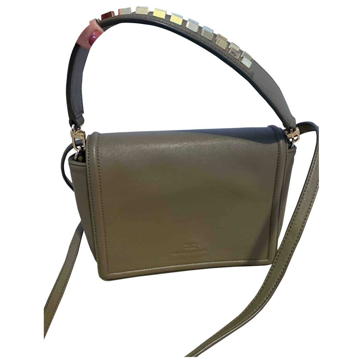 Elisabetta Franchi \N Handtasche in  Beige Leder