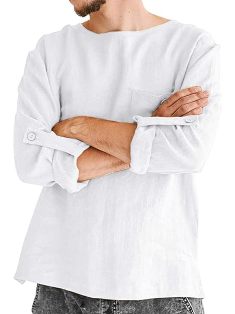 Ericdress Round Neck Plain European Loose Fall Shirt