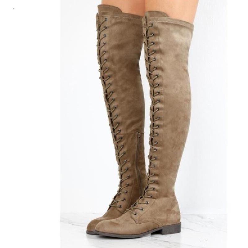 Ericdress Block Heel Cross Strap Women's Knee High Boots