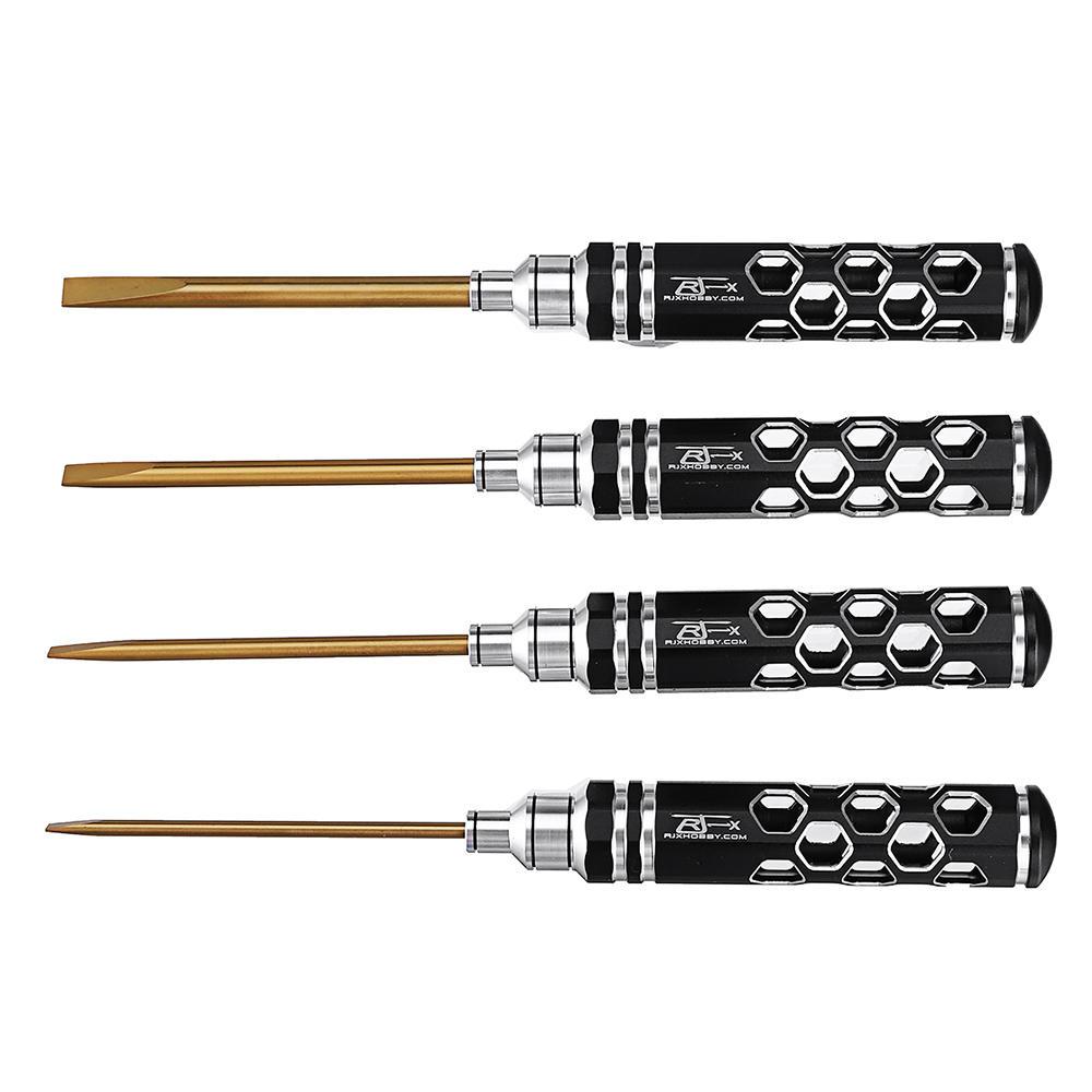 4Pcs RJX RJX2769 3.0/4.0/ 5.0/5.8mm Flat Head Screwdriver Tools Kit Set