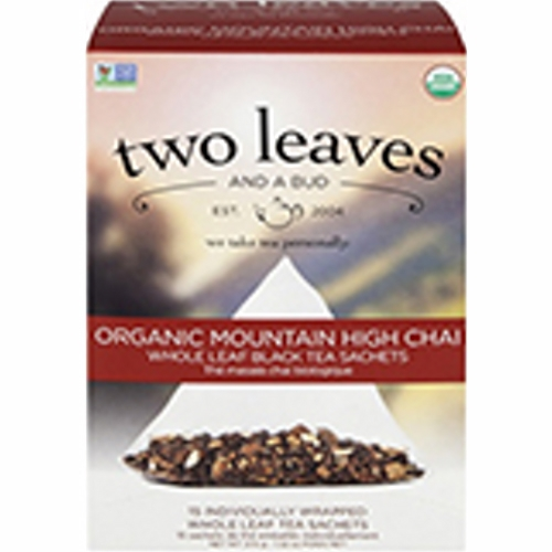 Organic Mountain High Chai Tea 15 Bags by Two Leaves And A Bud