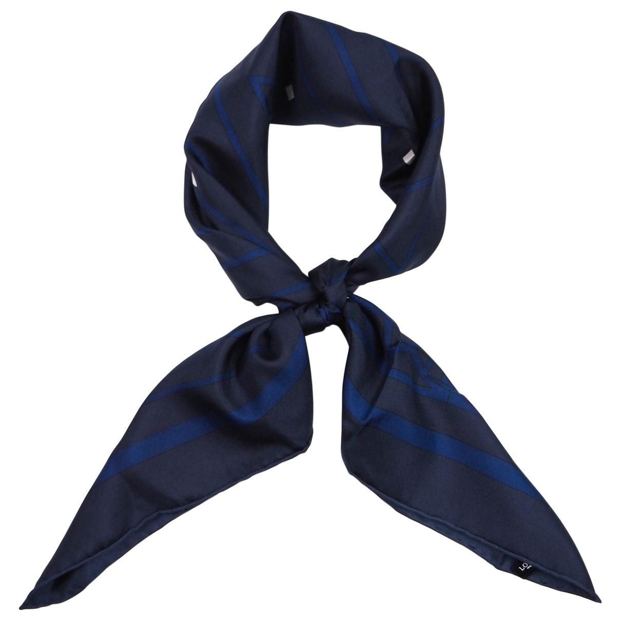 Longines \N Navy Silk scarf for Women \N