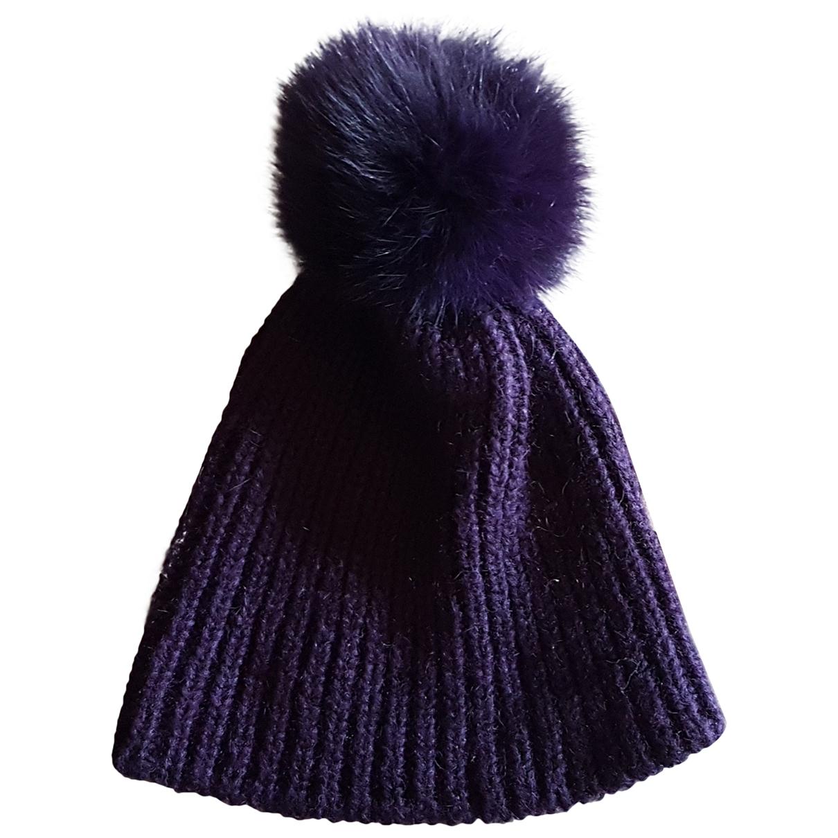 - Chapeau   pour femme en laine - violet