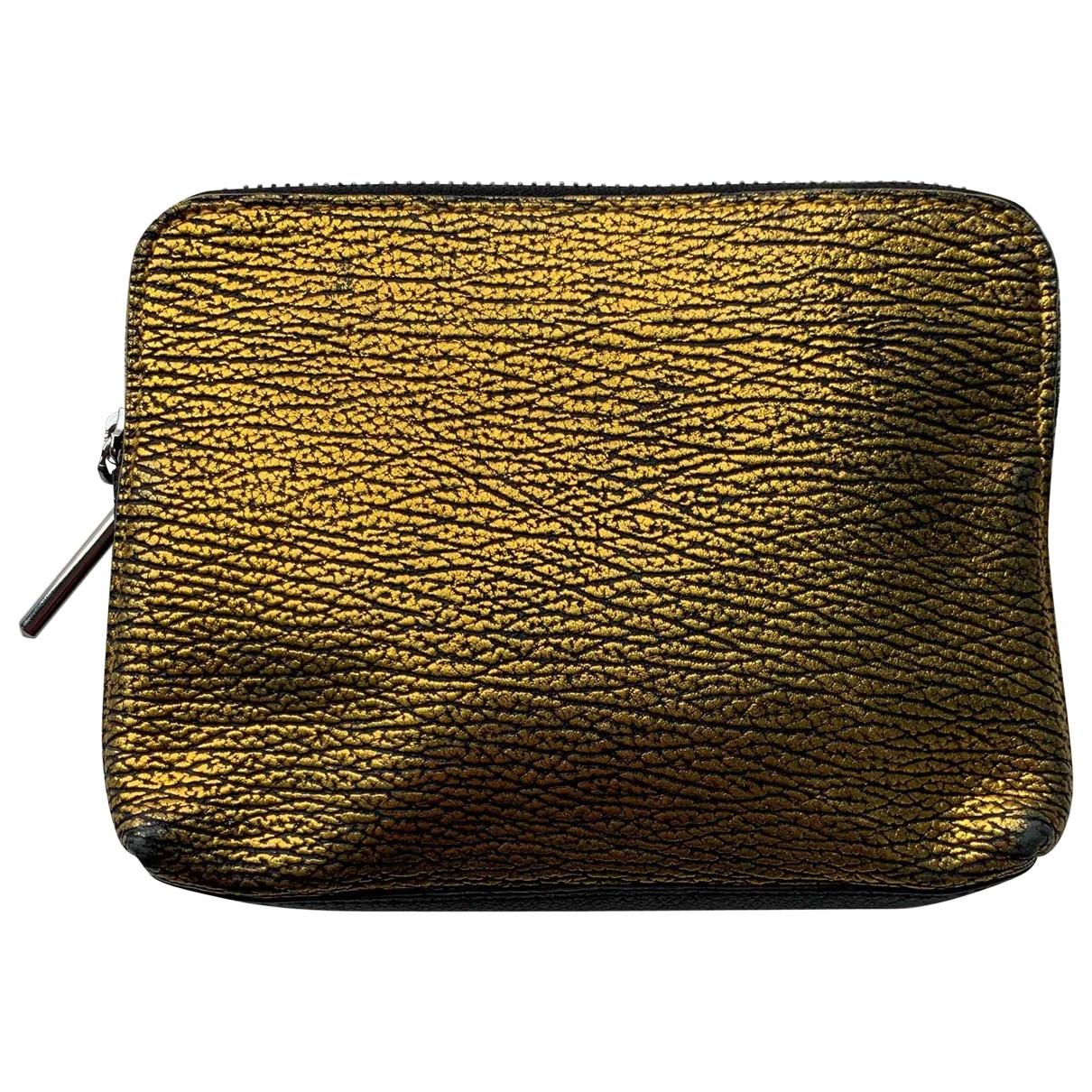3.1 Phillip Lim - Pochette   pour femme en cuir - dore