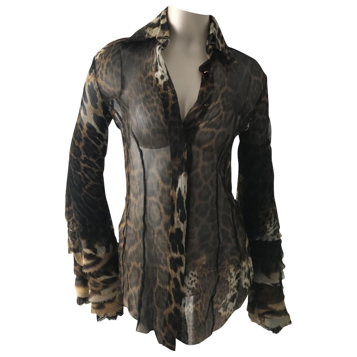 Gianfranco Ferré \N Brown Silk  top for Women 38 IT