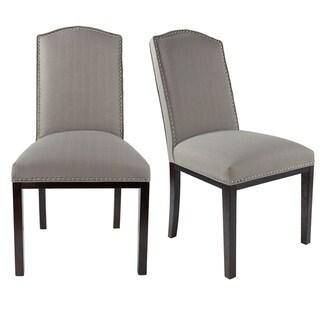 Sole Design Allison Modern Upholstered Camel Back Dining Chair (Espresso Finish - greyish-brown)
