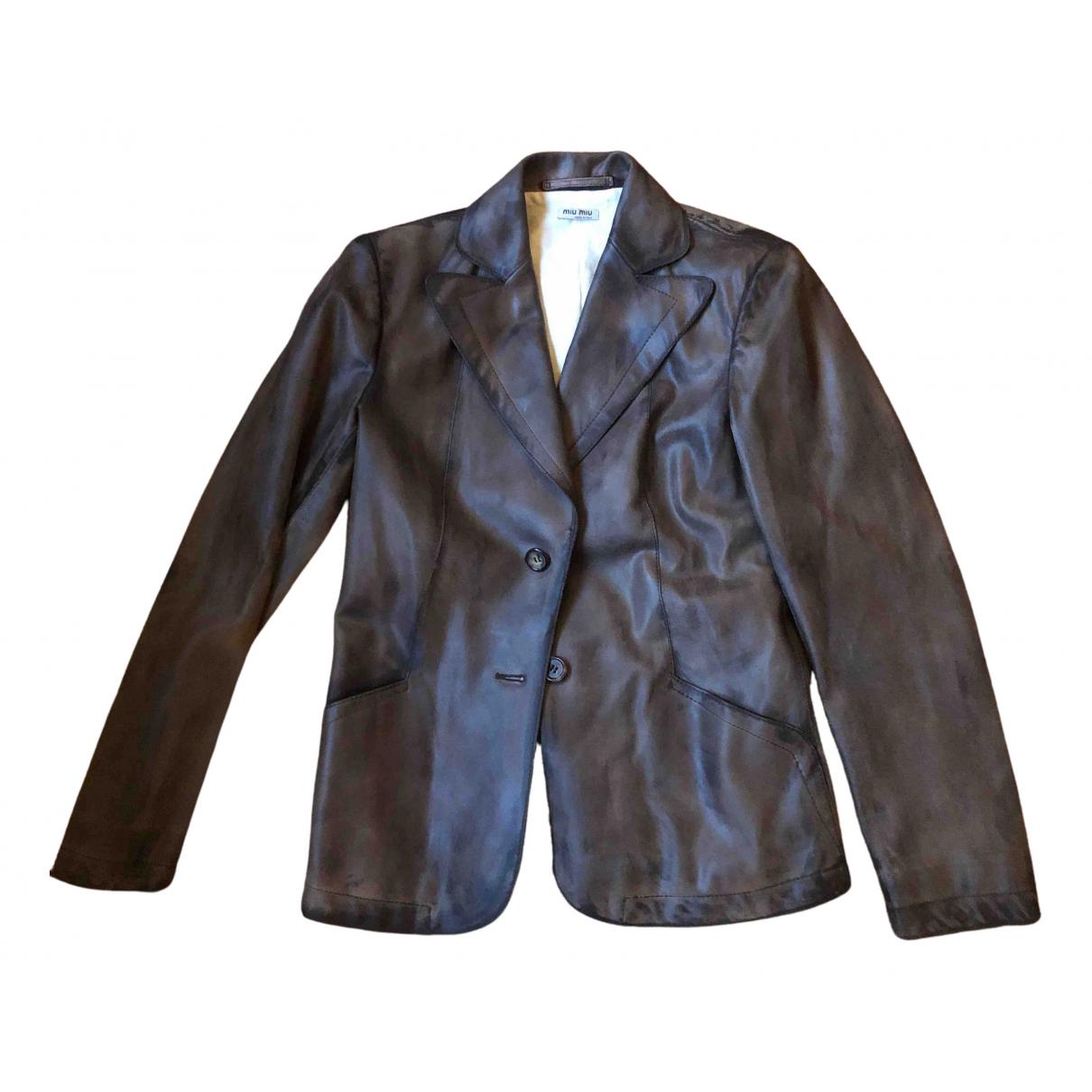 Miu Miu N Leather jacket for Women 42 FR