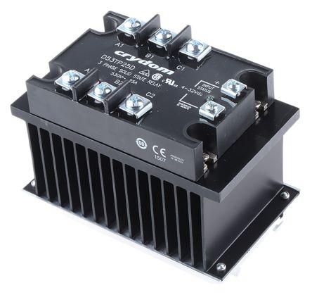 Sensata / Crydom 55 A Solid State Relay, Zero Cross, DIN Rail, 530 V ac Maximum Load