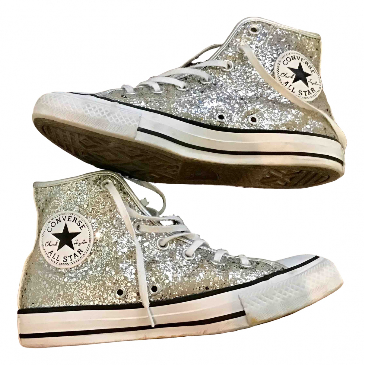 Converse \N Silver Cloth Trainers for Women 5.5 UK