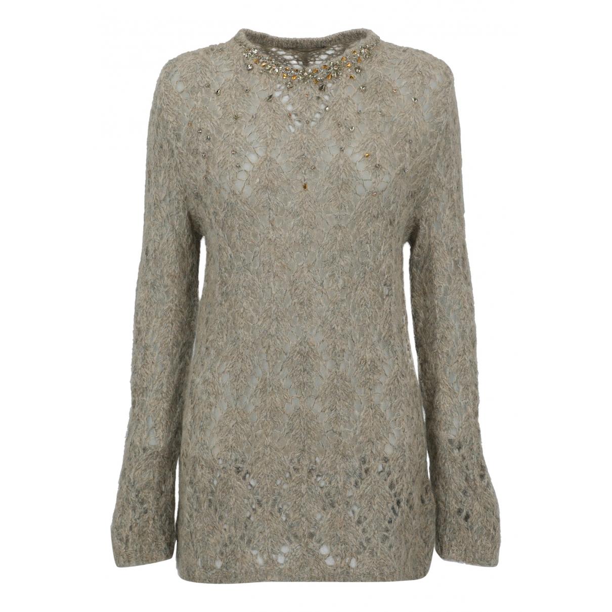 Ermanno Scervino N Grey Wool Knitwear for Women 40 IT