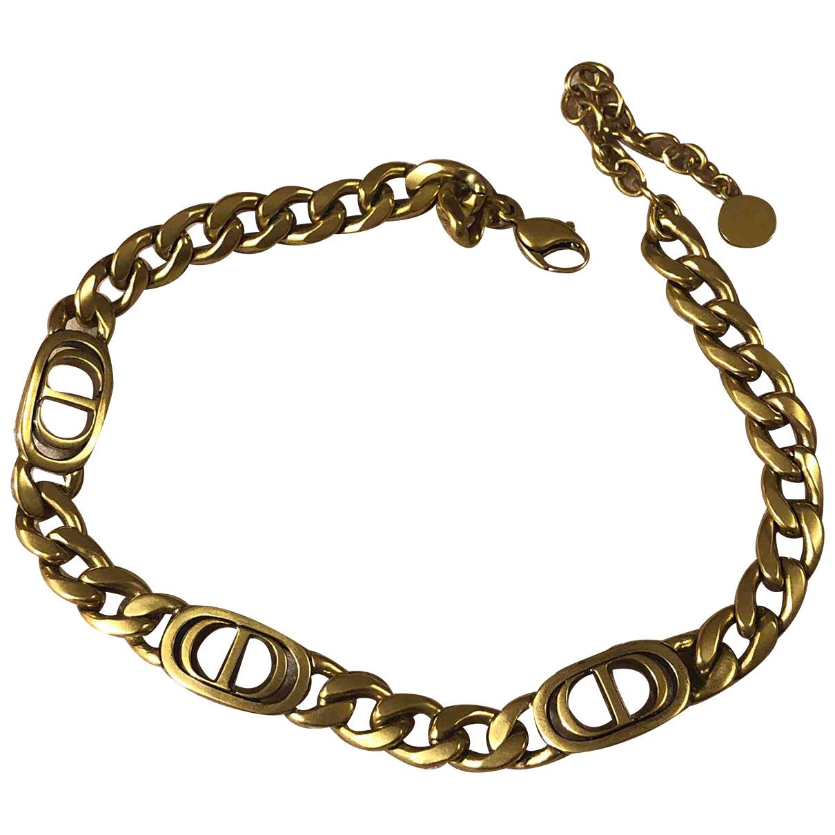 Christian Dior - Collier   pour femme en plaque or - dore