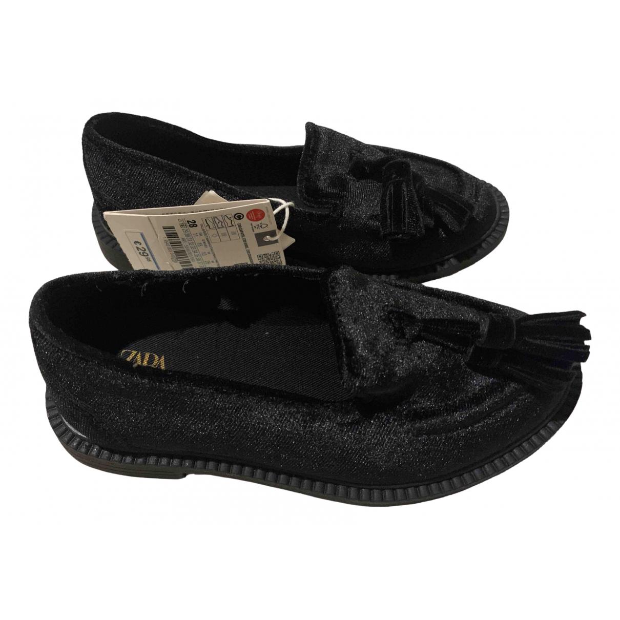 Zara - Mocassins   pour enfant en velours - noir