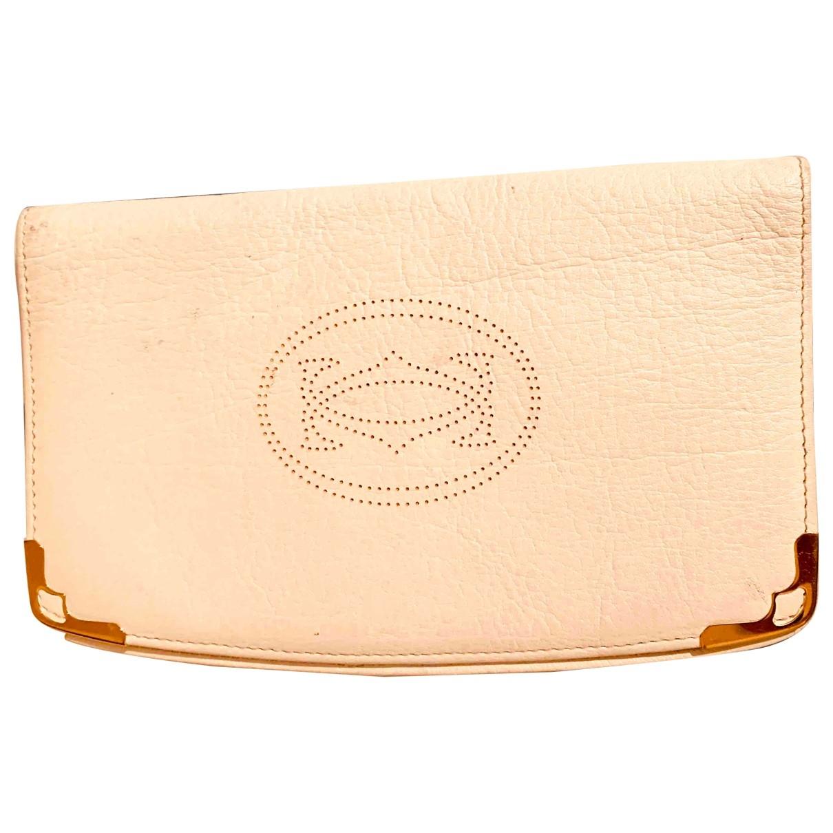 Cartier - Portefeuille   pour femme en cuir - beige