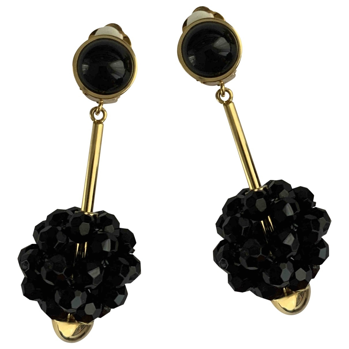 Marni \N Black Metal Earrings for Women \N