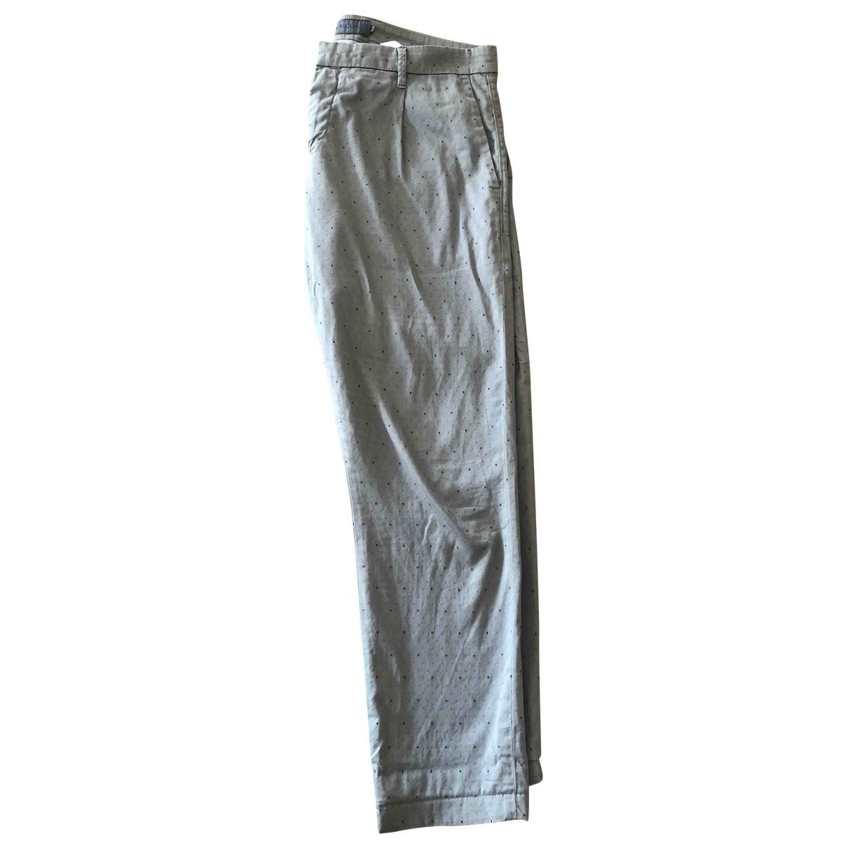 Pantalones en Algodon Beige Atelier Siviglia