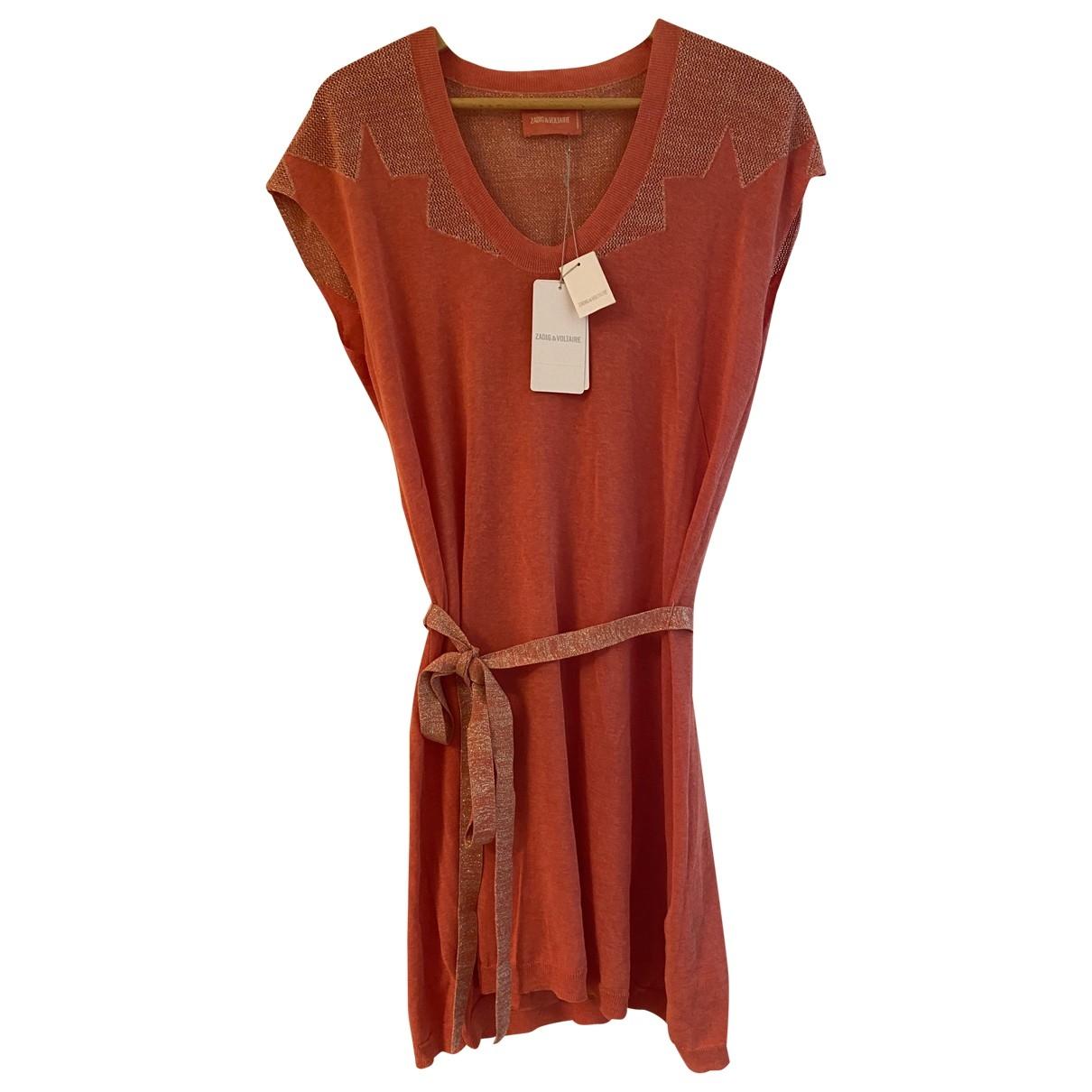 Zadig & Voltaire \N Kleid in  Rosa Baumwolle