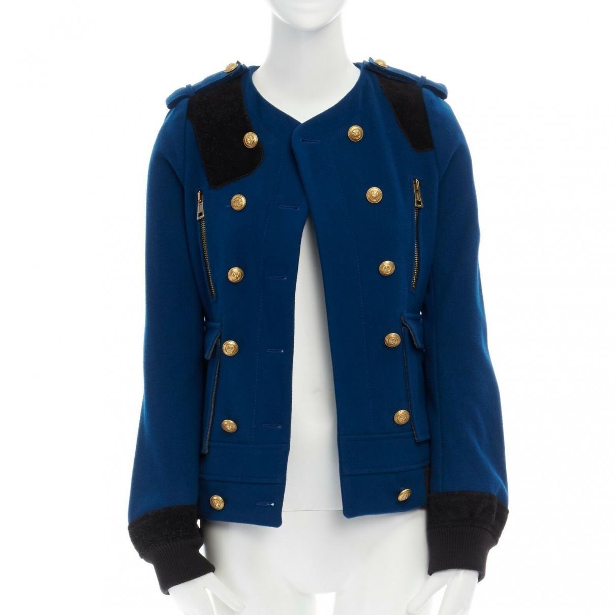 Balenciaga \N Jacke in  Blau Wolle