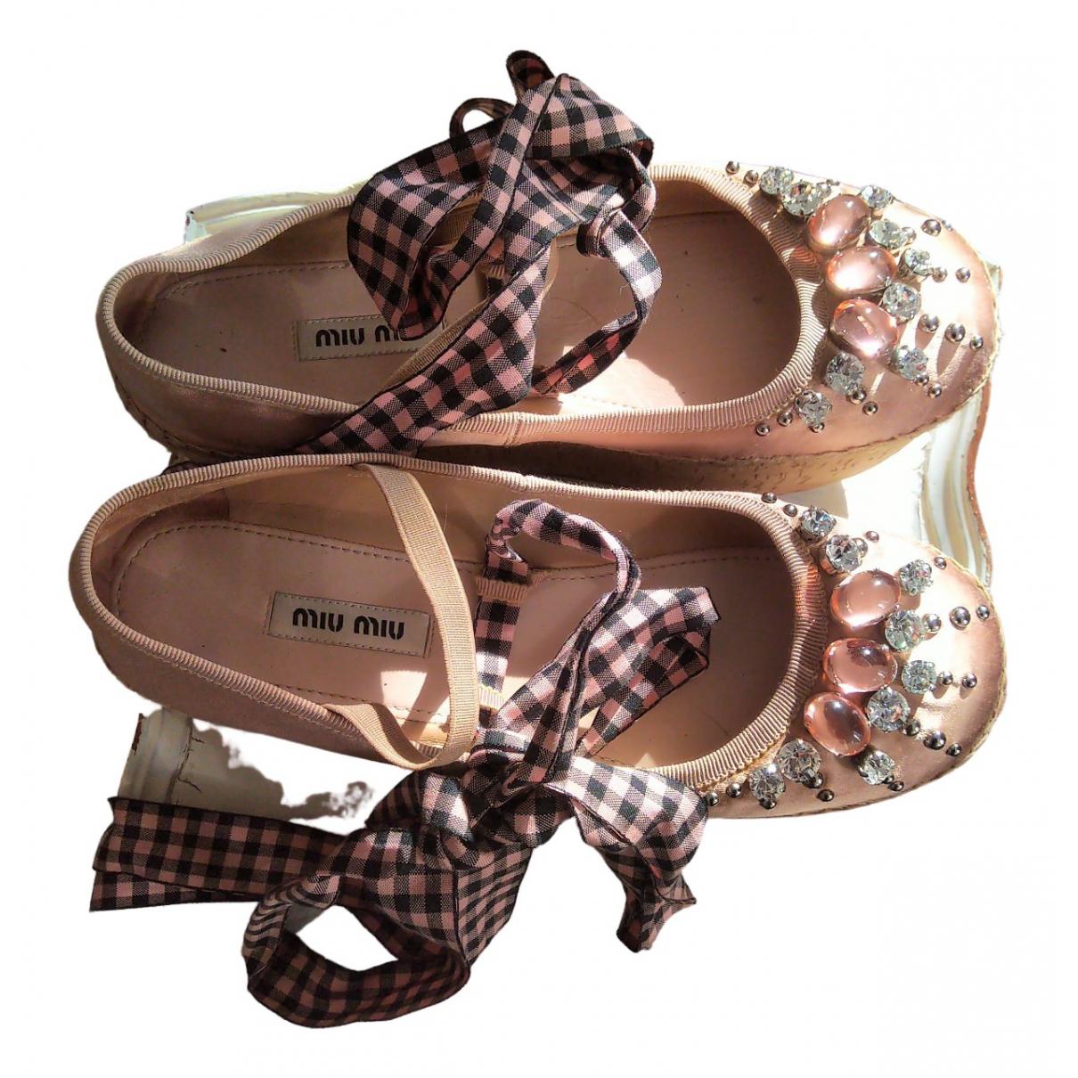 Miu Miu \N Ballerinas in  Rosa Mit Pailletten
