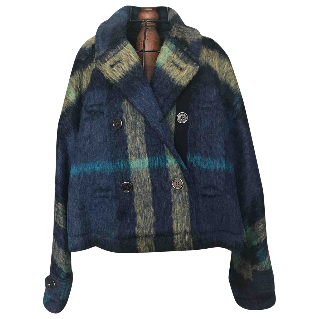 Burberry \N Jacke in  Blau Wolle