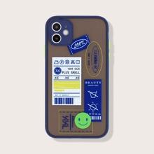 Funda de iphone con letra de marco en contraste