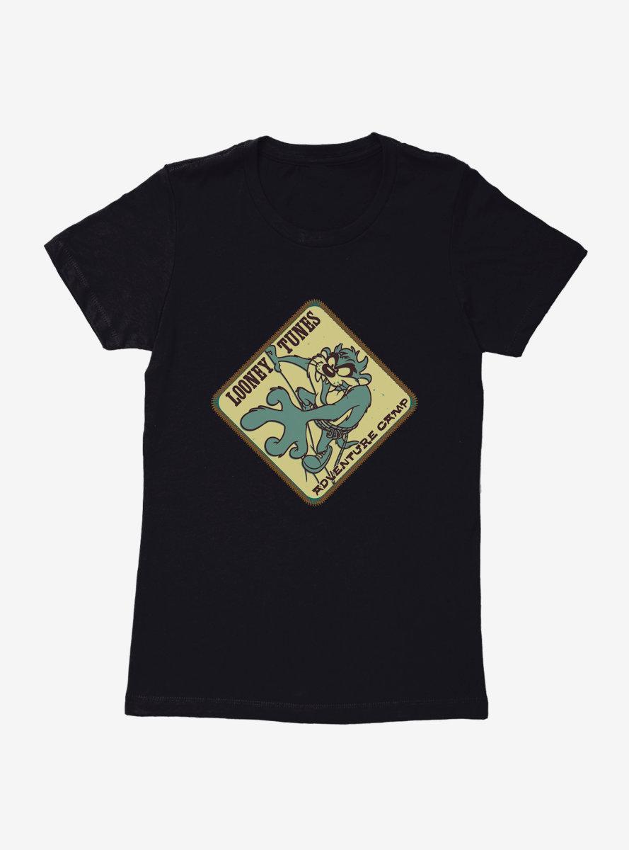 Looney Tunes Taz Rock Climbing Womens T-Shirt