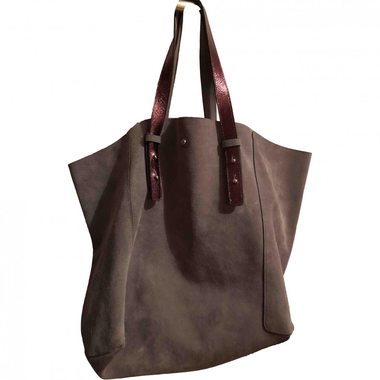 Gerard Darel Simple Bag Grey Suede handbag for Women \N