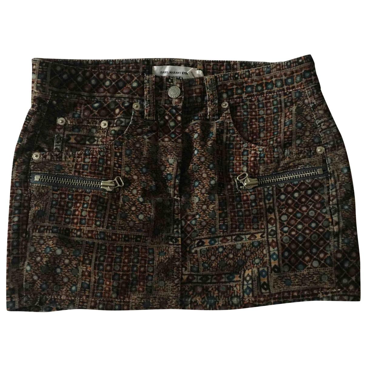 Isabel Marant Etoile \N Multicolour Velvet skirt for Women 36 FR