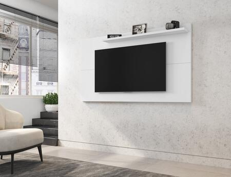 Liberty Collection 221BMC6 TV Panel with 1 Fixed Shelf    Modern Style and Medium Density Particleboard (MDP) Frame in White Gloss