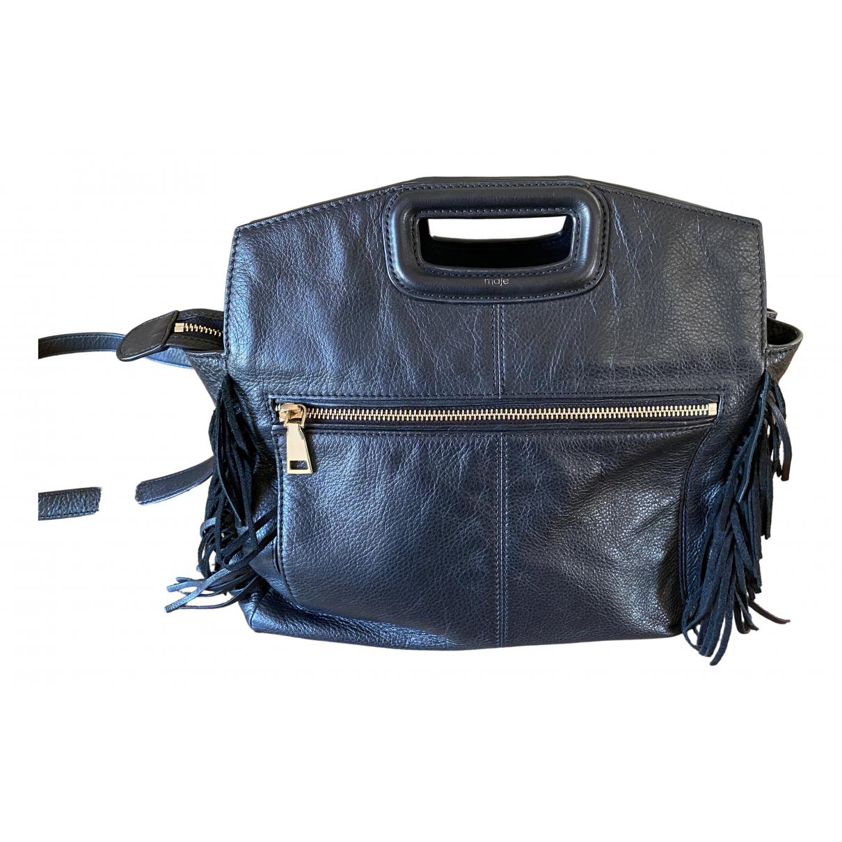 Maje \N Black Leather handbag for Women \N