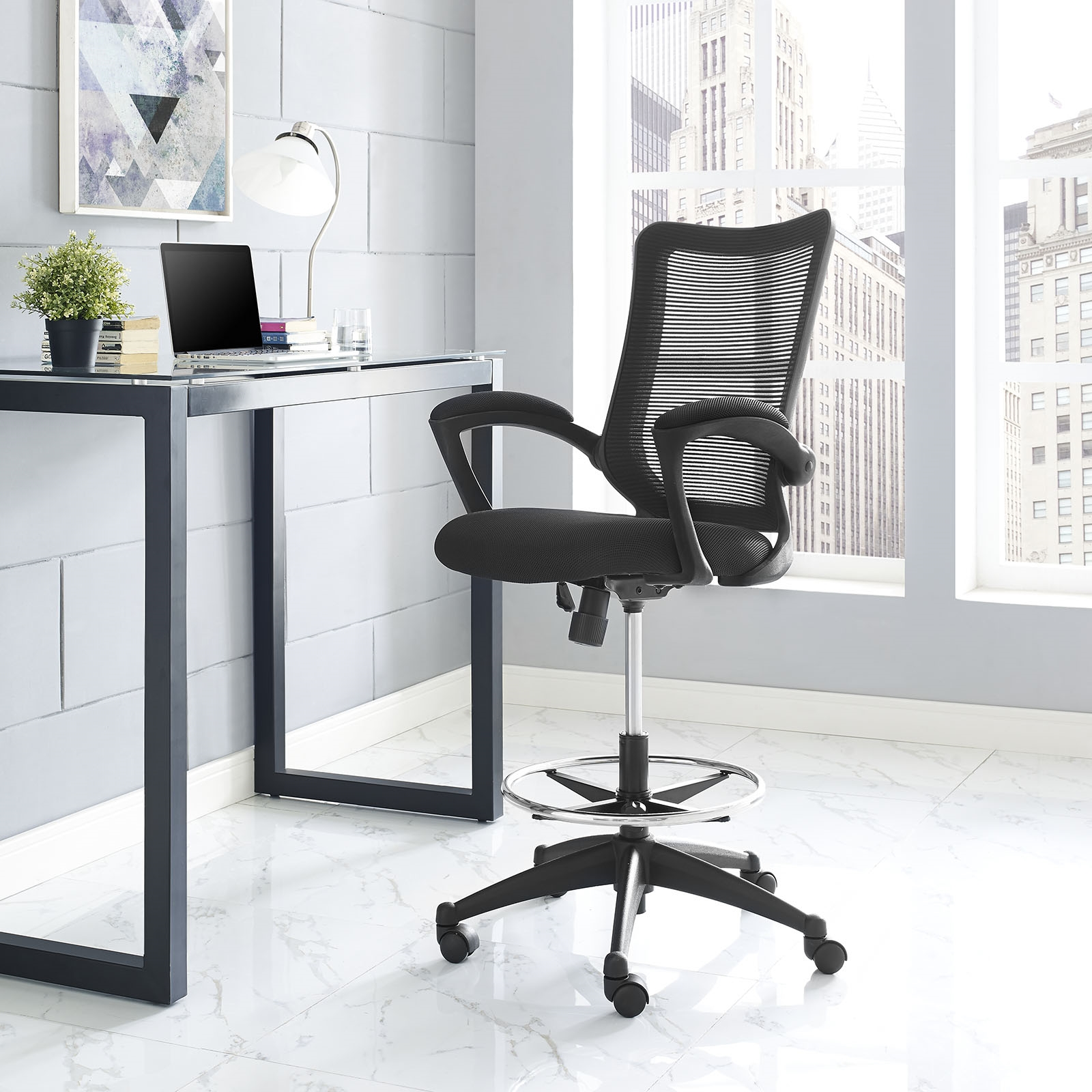 Project Drafting Chair in Black