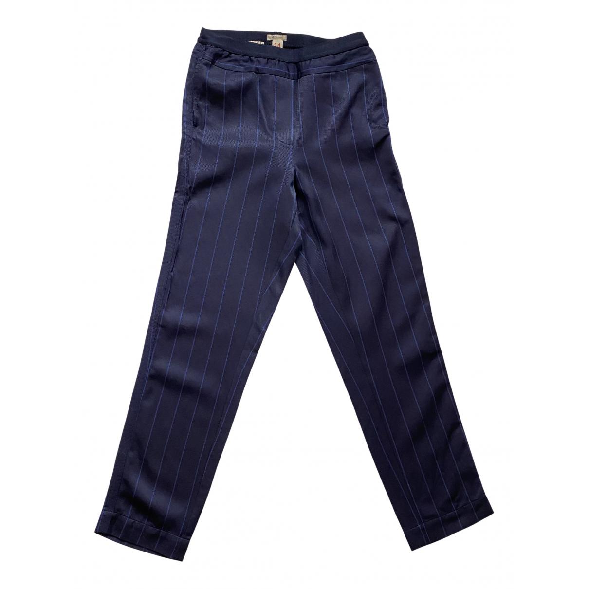 Pantalones en Viscosa Azul Bellerose