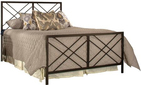 Westlake Collection 2166BK King Size Headboard and Footboard Set with Open-Frame Panel Design and Sturdy Metal Construction in Magnesium