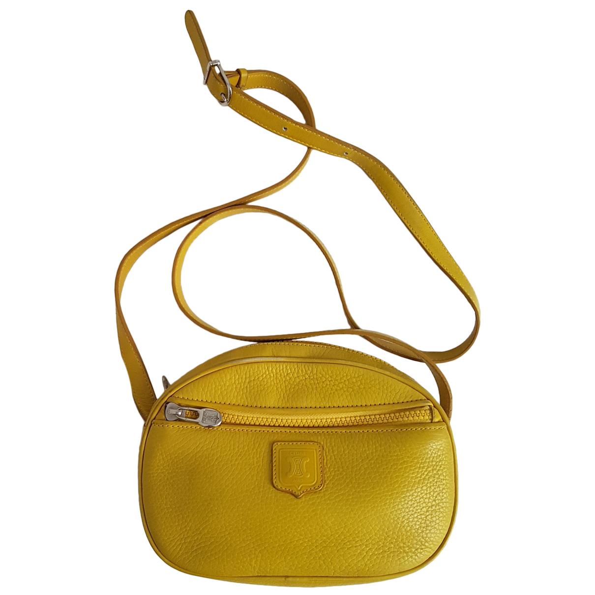 Celine - Sac a main C charm pour femme en cuir - jaune