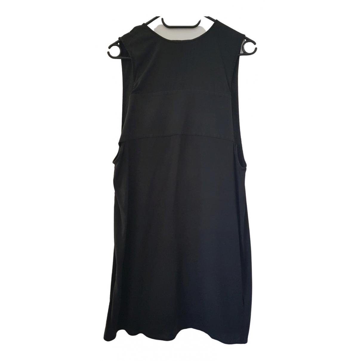 T By Alexander Wang \N Kleid in  Schwarz Baumwolle