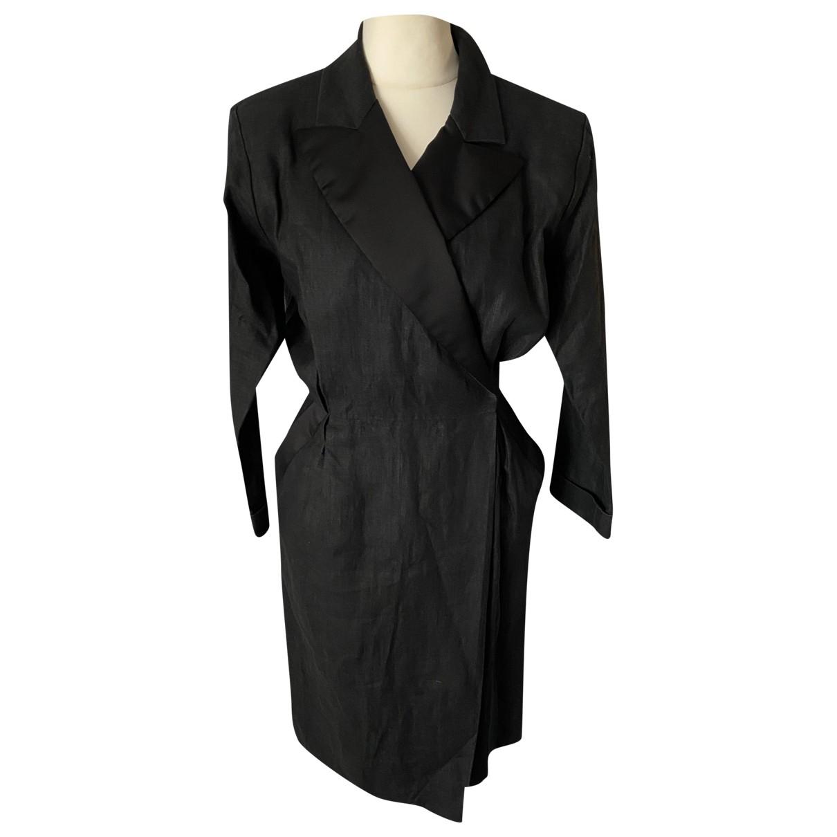 Yves Saint Laurent \N Black Linen dress for Women 42 IT