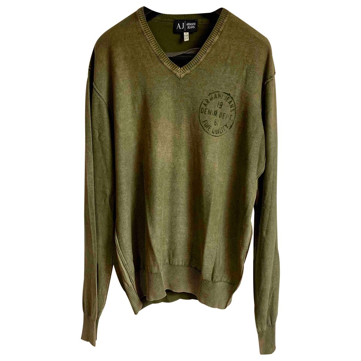 Armani Jeans \N Pullover.Westen.Sweatshirts  in  Gruen Baumwolle