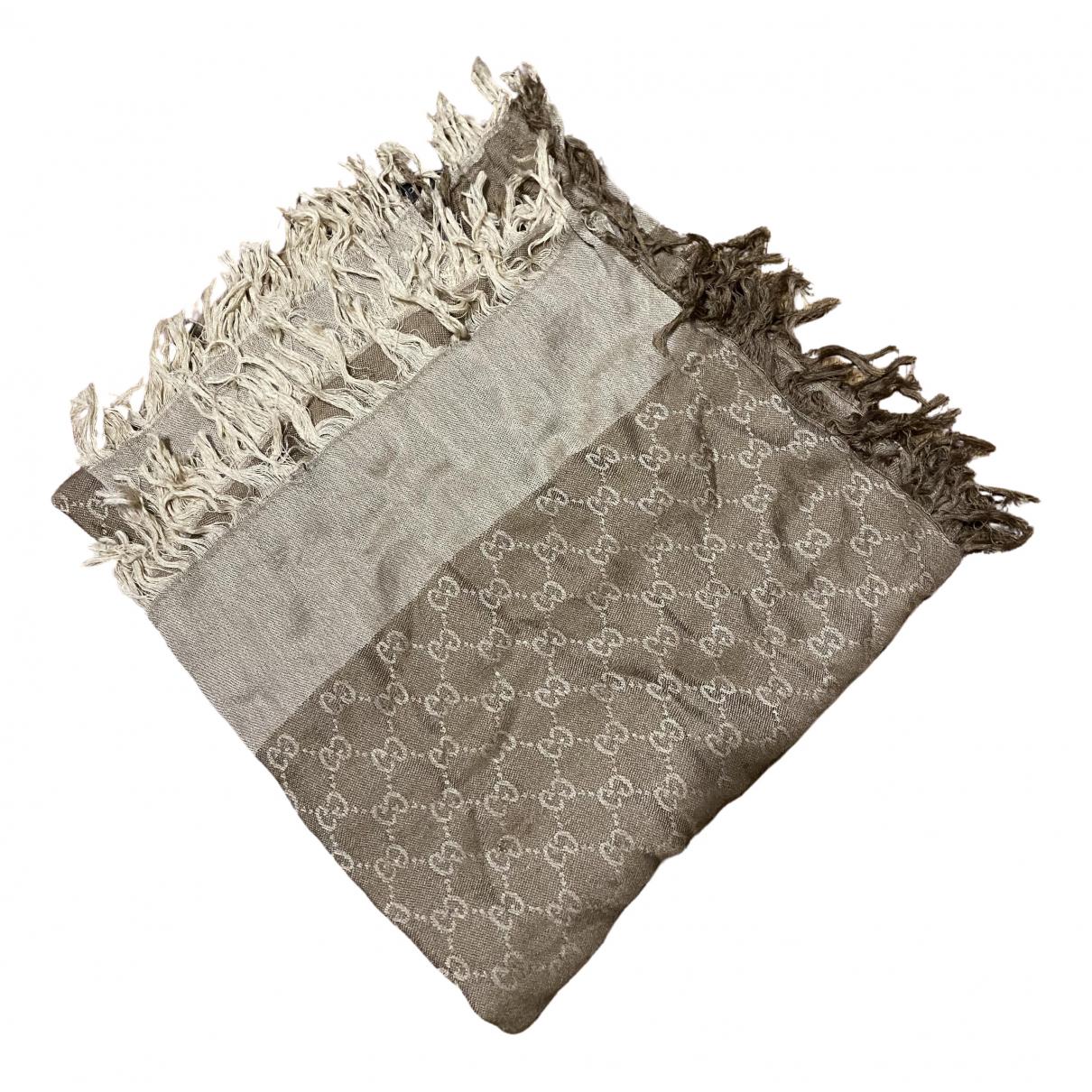 Gucci \N Schal in  Beige Baumwolle