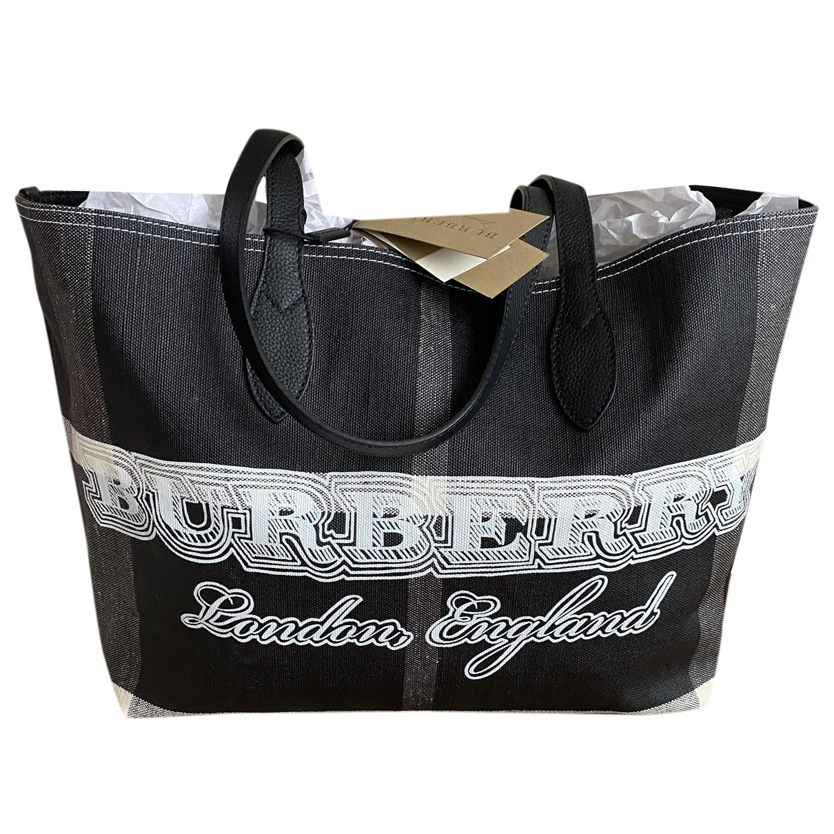 Burberry The Giant  Cloth handbag for Women N